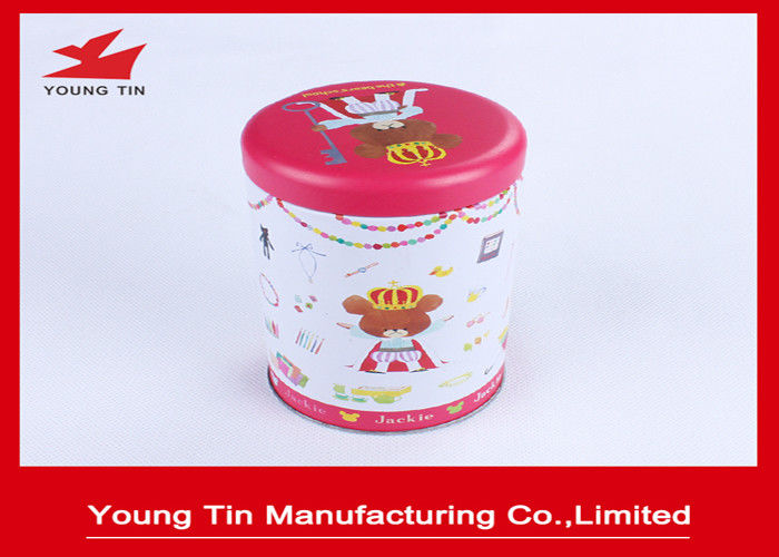 Sweets Metallic Packaging Round Cylinder Gift Tins Artwork CMYK Printed